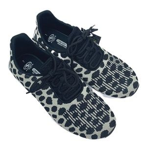 Athletic Works • Black White Leopard Sneakers • 7